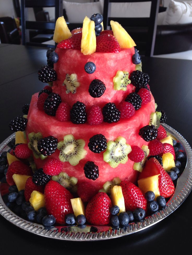 Fruit Birthday Cakes