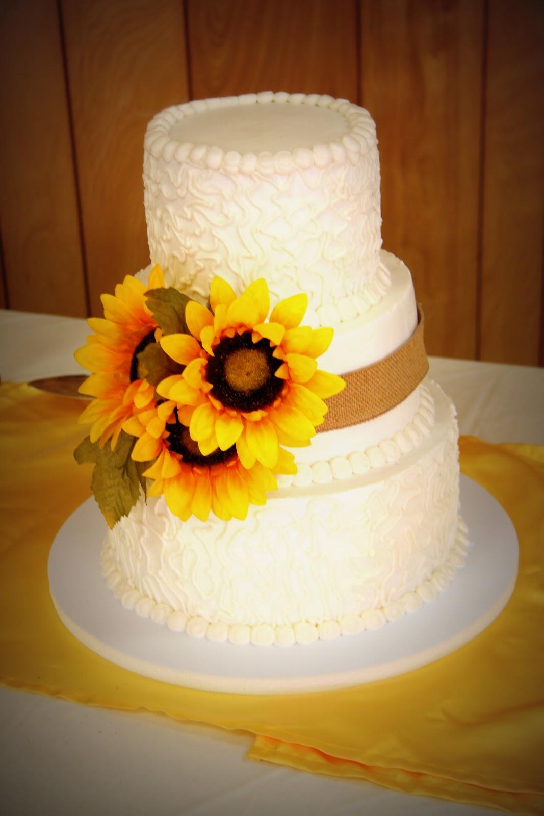 Sunflower Wedding Cakes