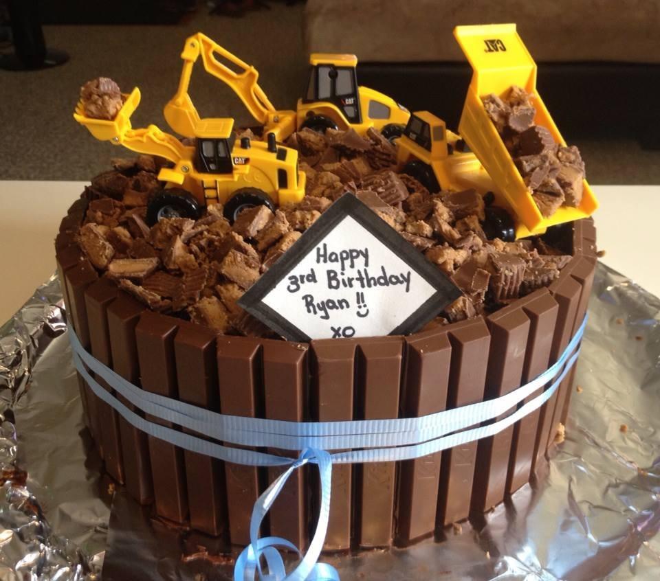 Excavator Birthday Cakes