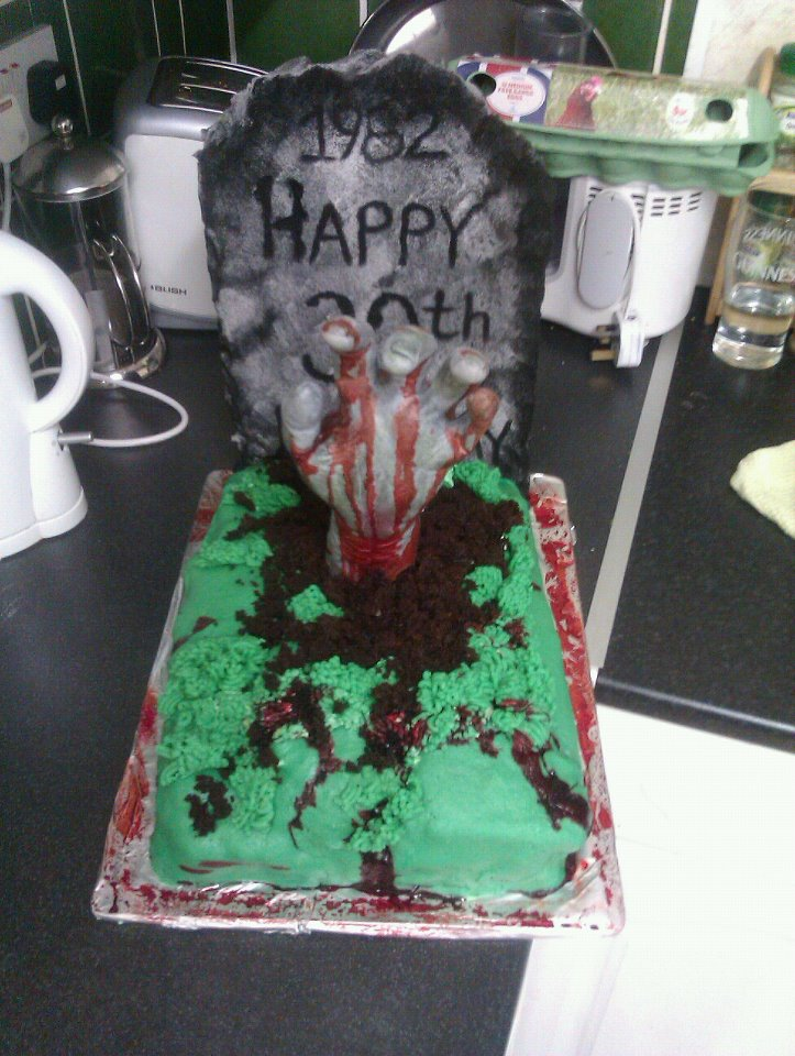 Zombie Birthday Cake For Fletch Yummies Pinterest