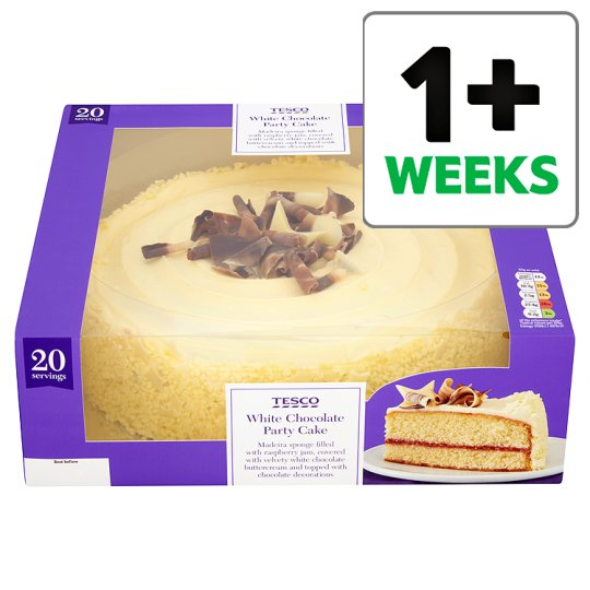 Tesco Large White Chocolate Celebration Cake Groceries