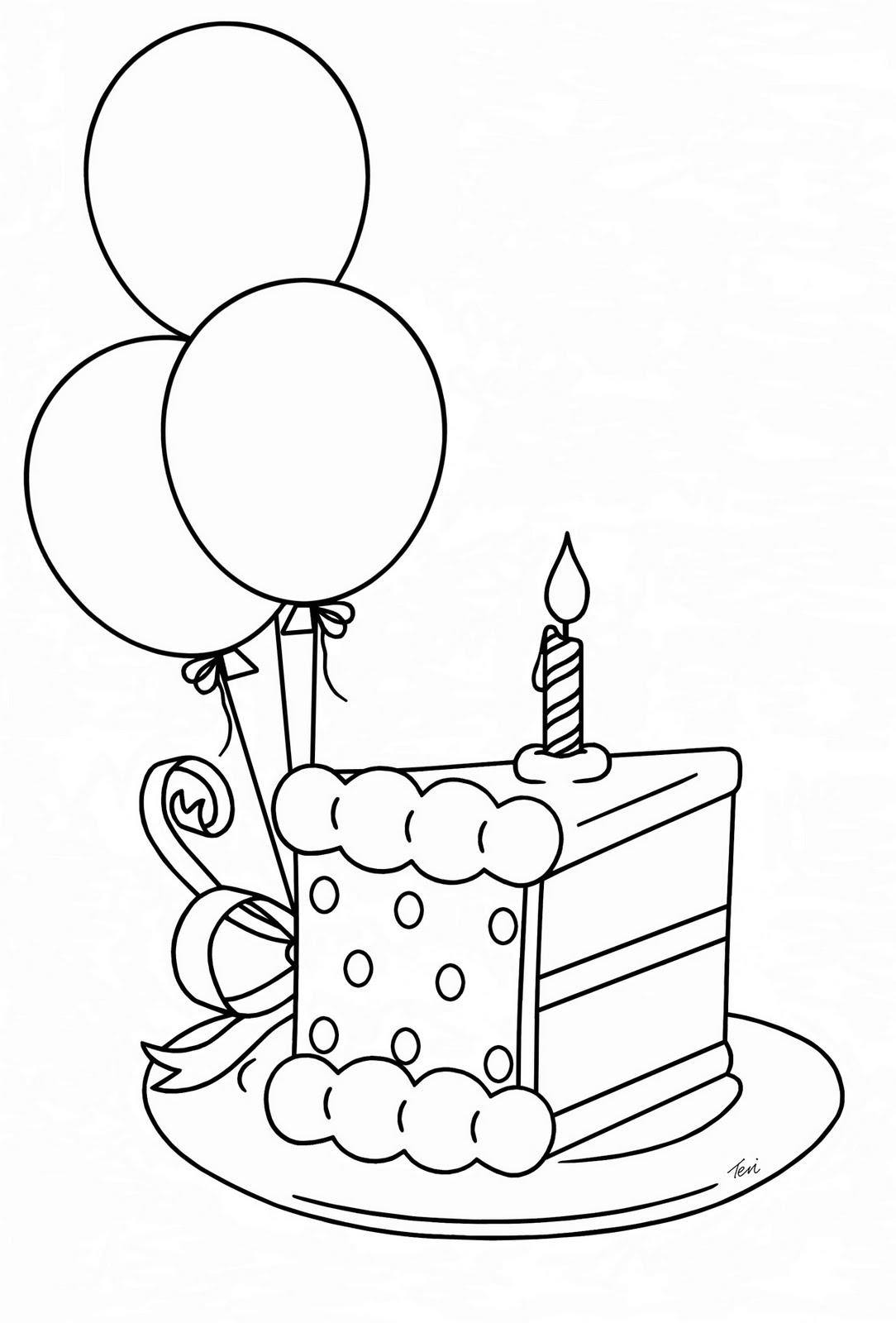 drawn birthday cakes