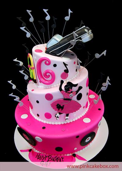 50s Themed Birthday Cake Cakes