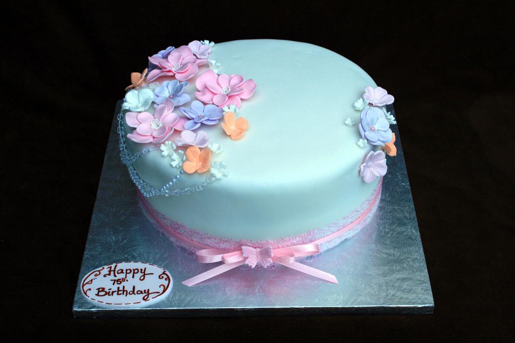 75th Birthday Cake Eldriva Flickr