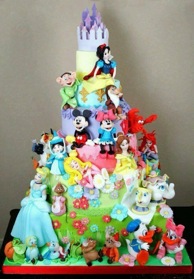 Disney World Cakes Happy Birthday