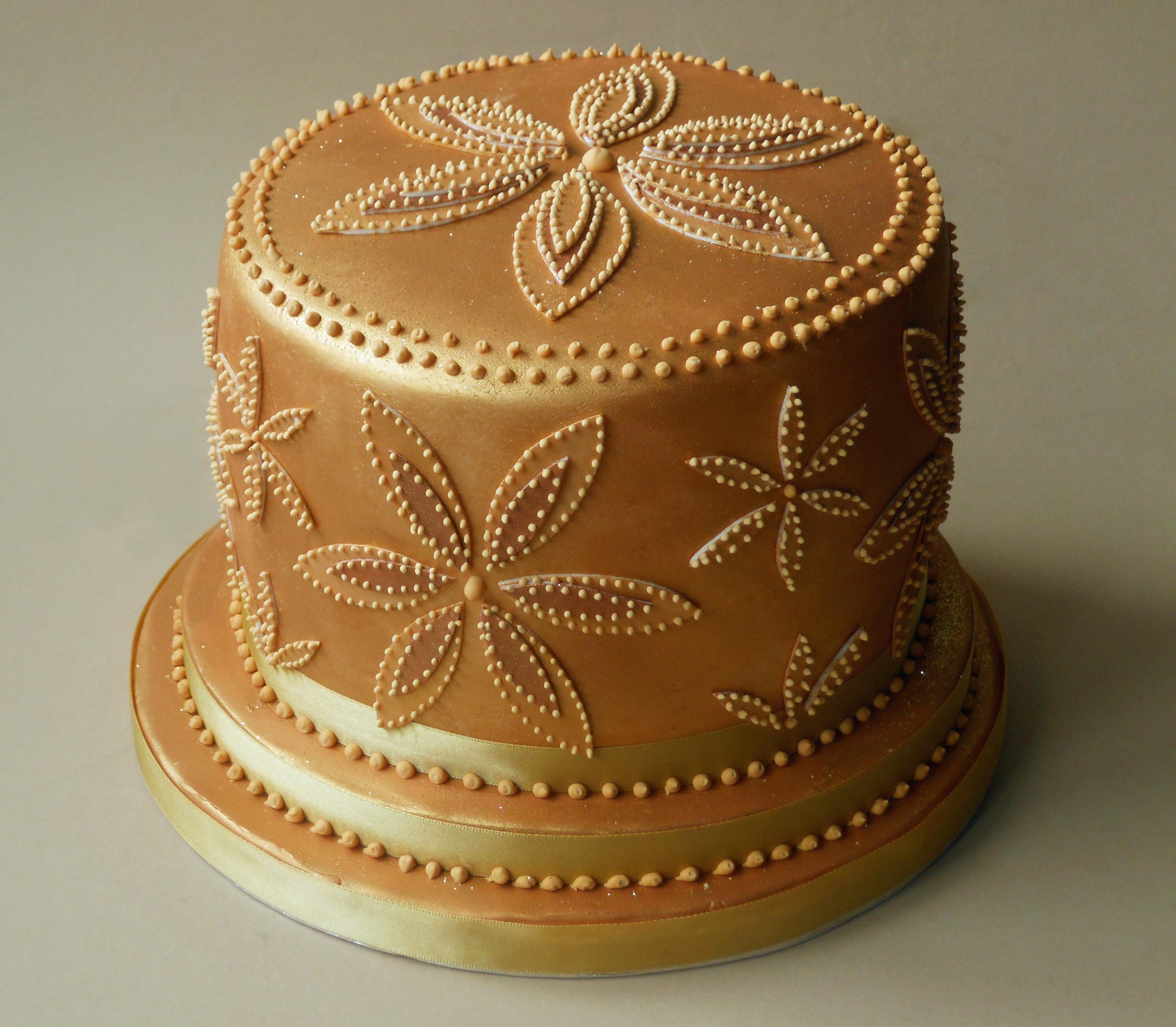Gold Birthday Cakes
