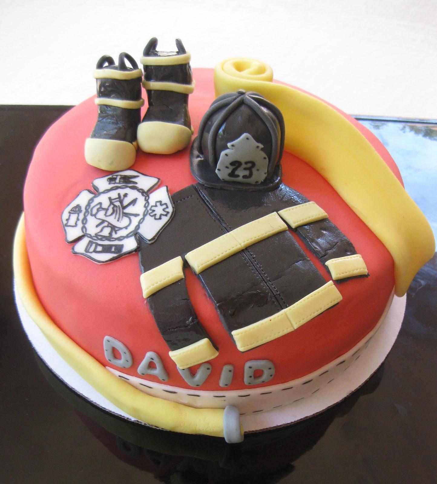 Firefighter Birthday Cakes