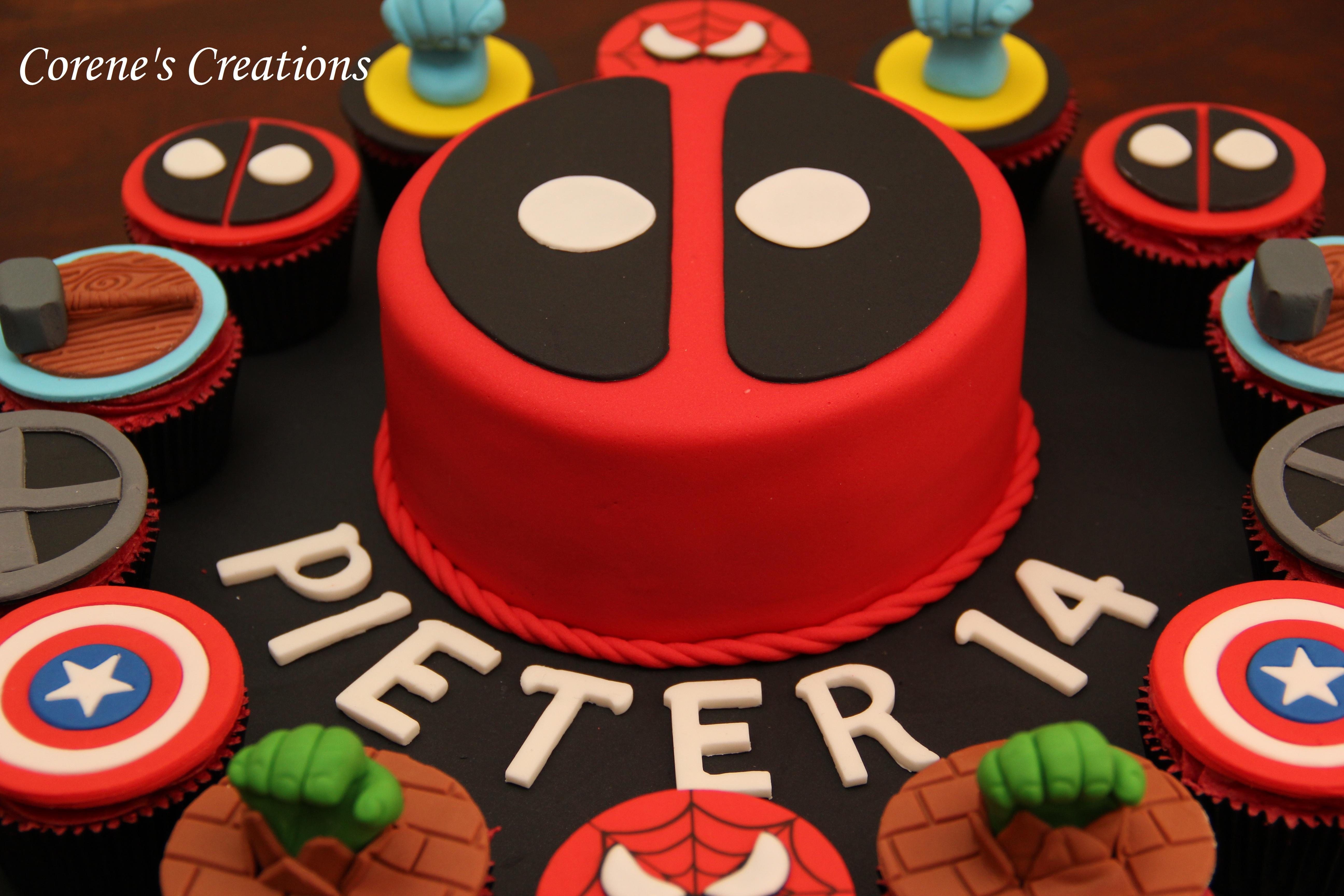 Deadpool Birthday Cakes