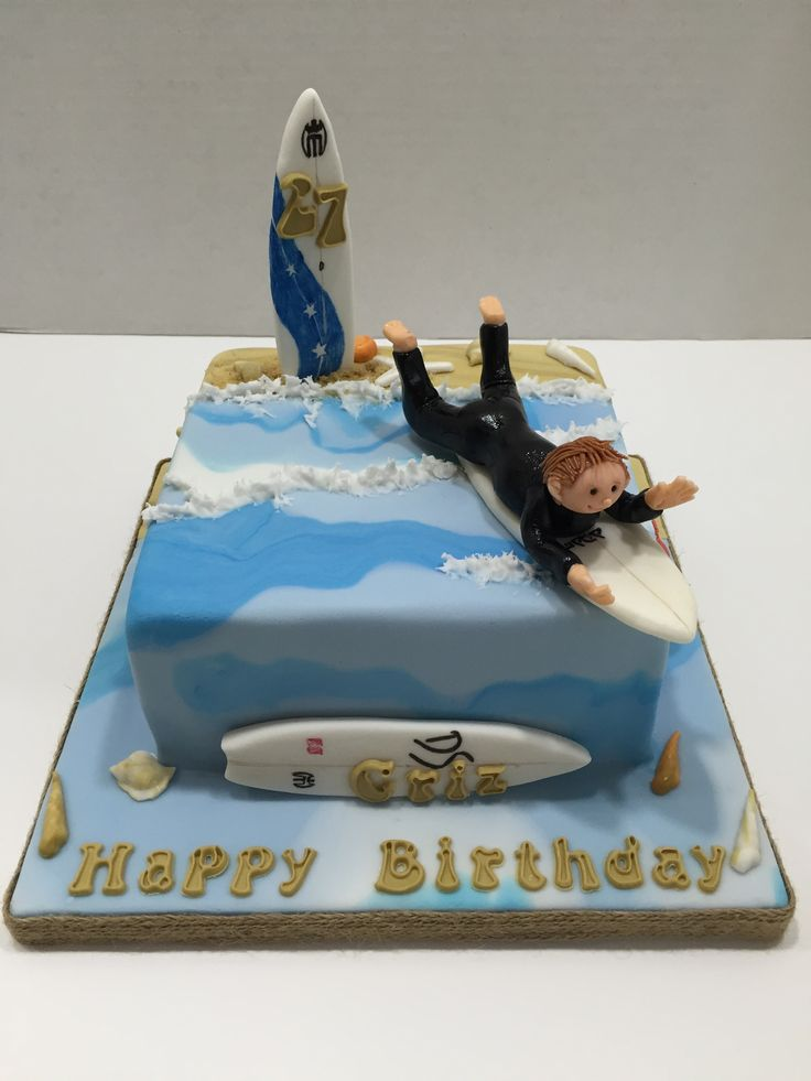 Surfboard Birthday Cakes