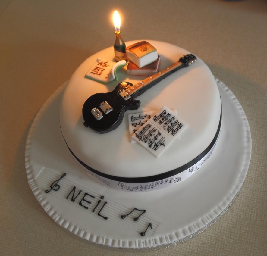 Guitar Birthday Cake Amandascake Couk Also On