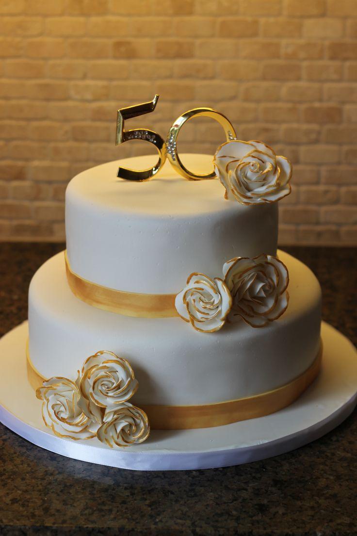 Golden Anniversary Cakes