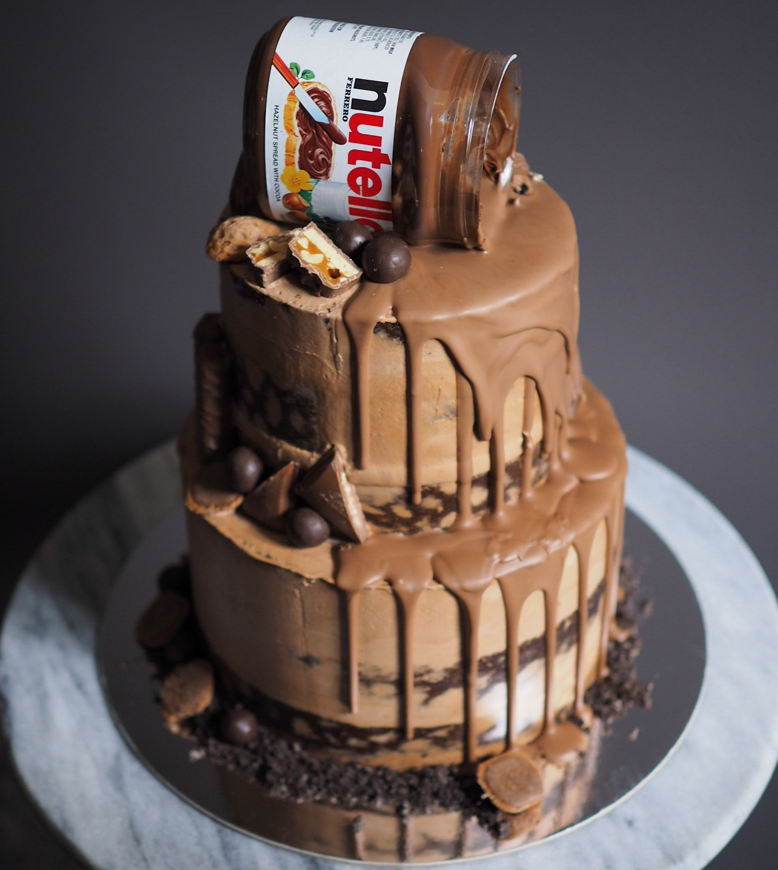 Nutella Birthday Cakes