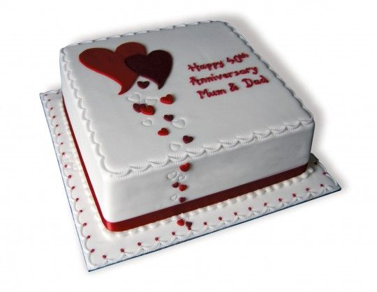 Ruby Wedding Anniversary Cake Ideas: Ruby Anniversary Cakes
