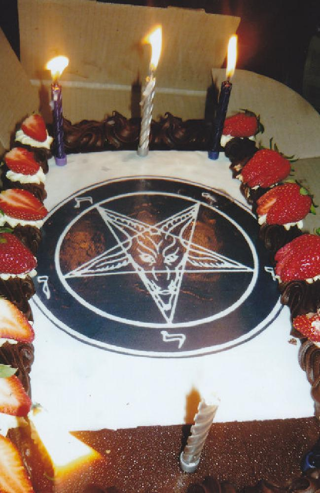 Satanic Birthday Cakes