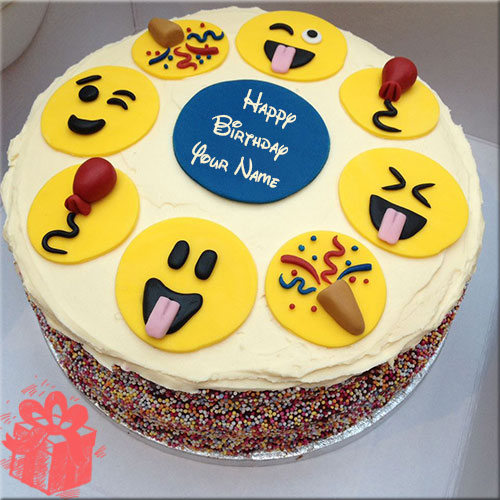 Birthday Cake Emoji Emoticon For Facebook Emoticons Cakes