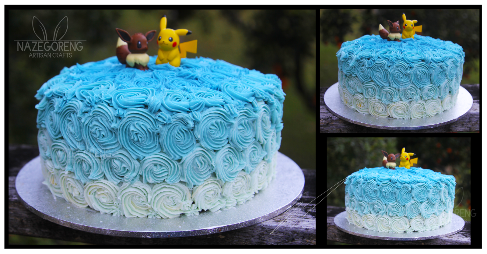 Blue Birthday Cakes