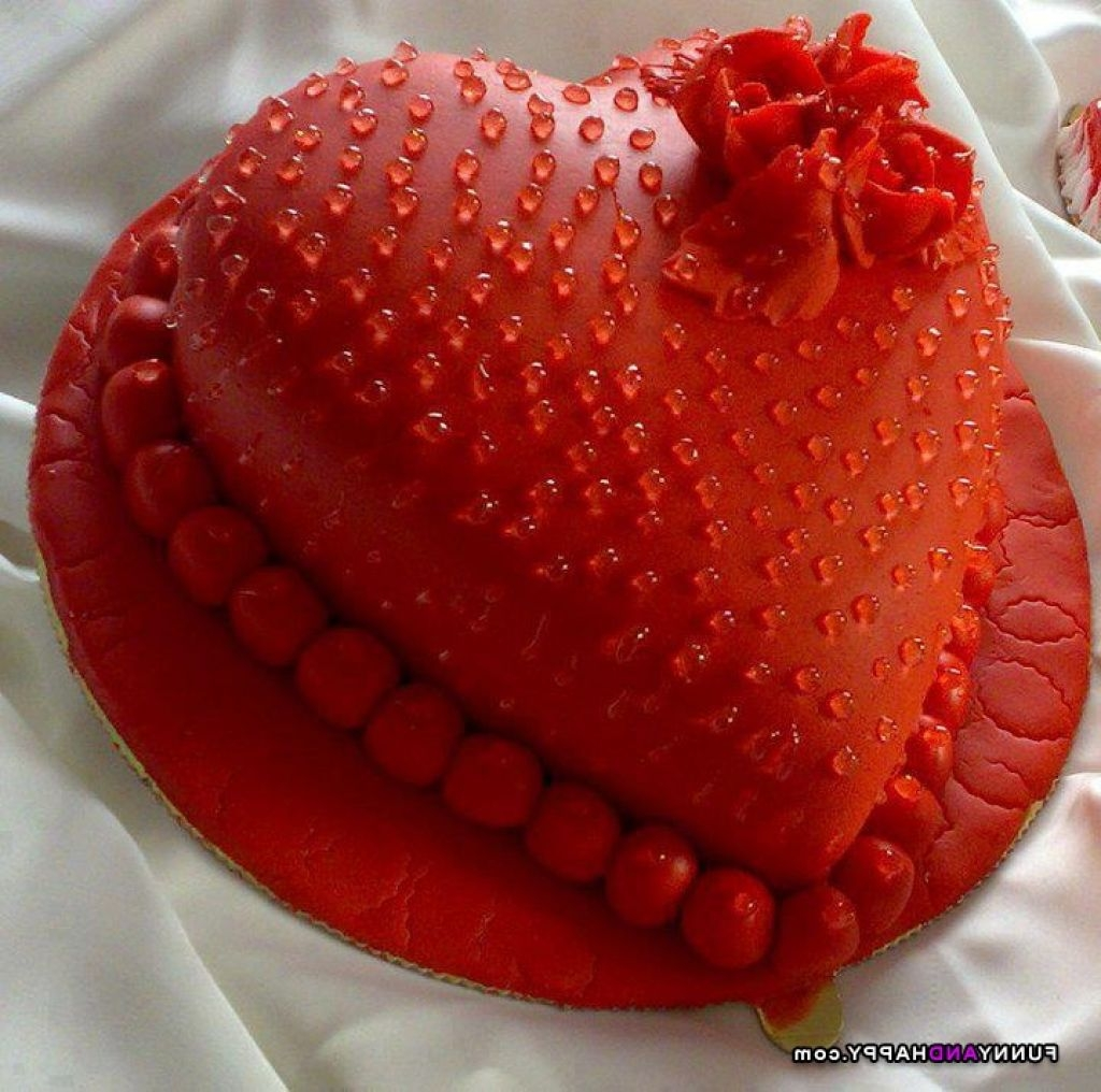 Birthday Cake For Love He Shape Sgram