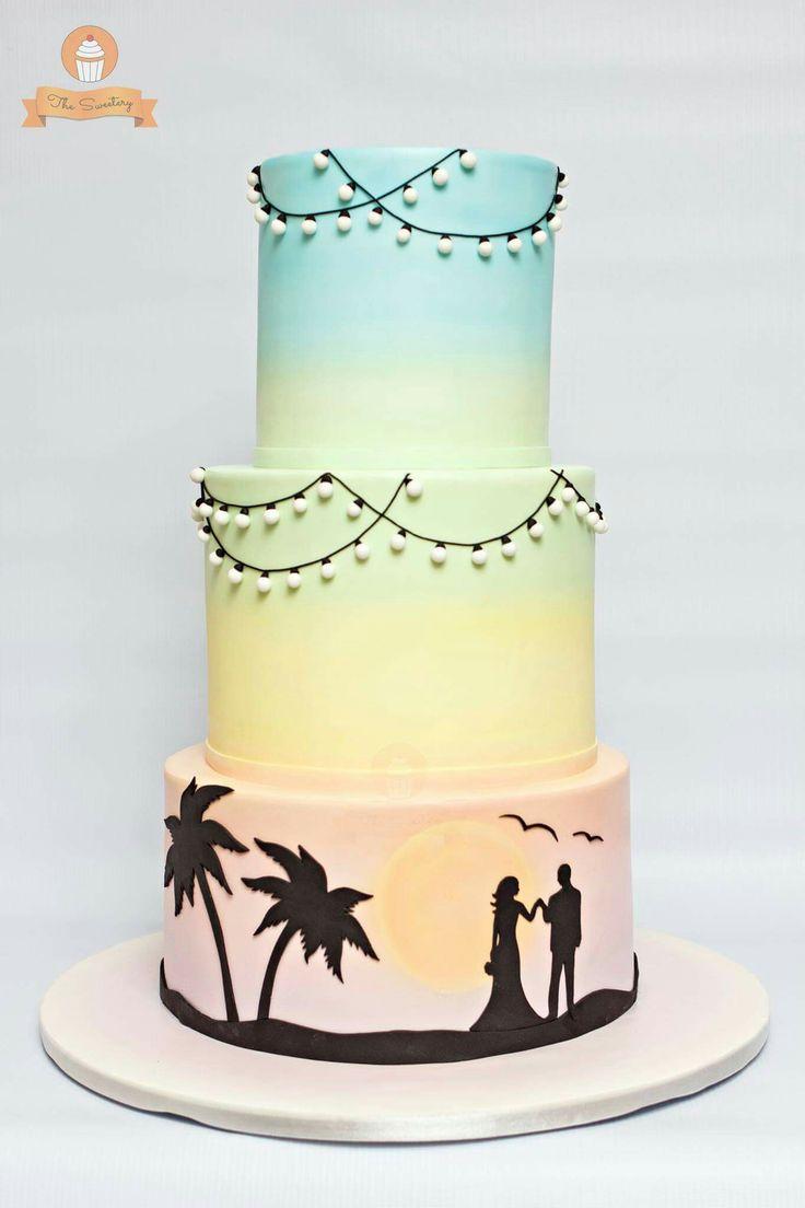 Sunset Wedding Cakes