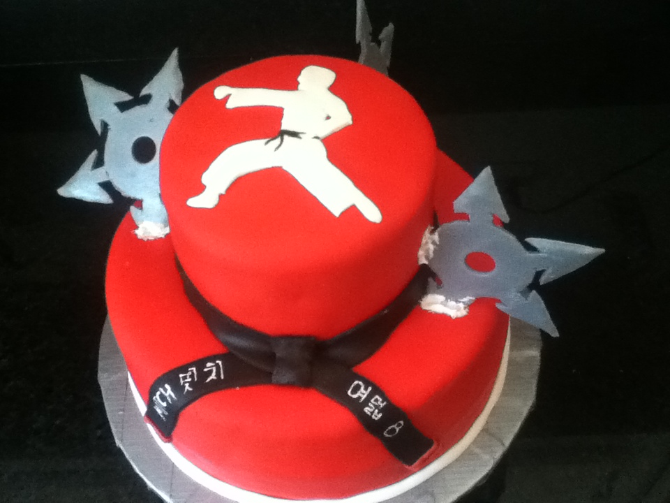 Martial Arts Sheet Cake Jpeg 960x720