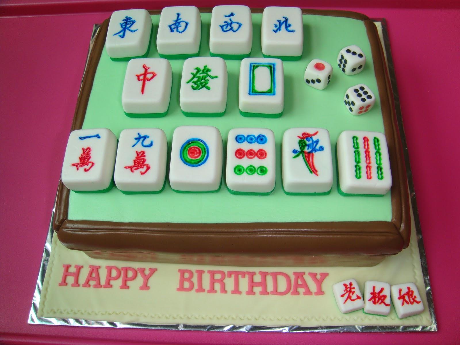 Mahjong Birthday Cakes