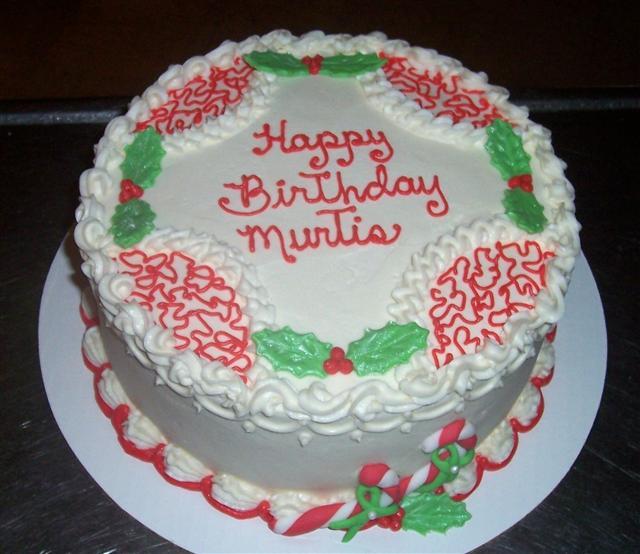 december birthday cakes - 640×554