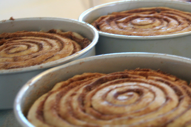 Cinnamon Birthday Cakes