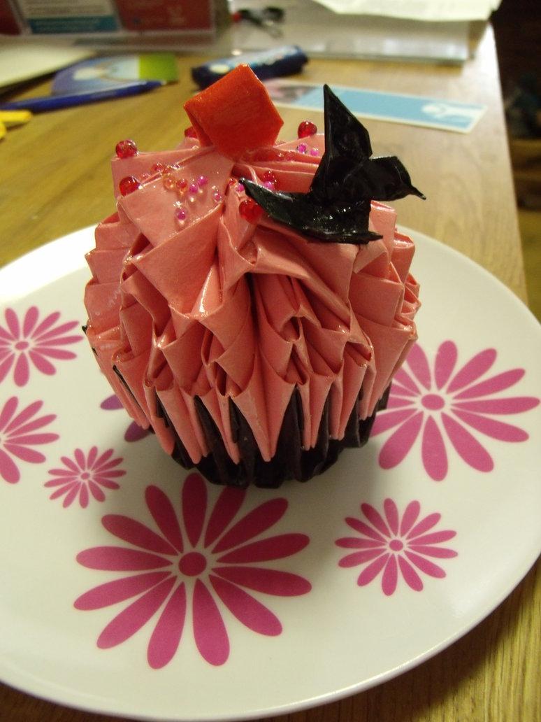 Origami Birthday Cakes 3d Swan Love Boat Diagram Flickr Photo Sharing Strawberry Penguin