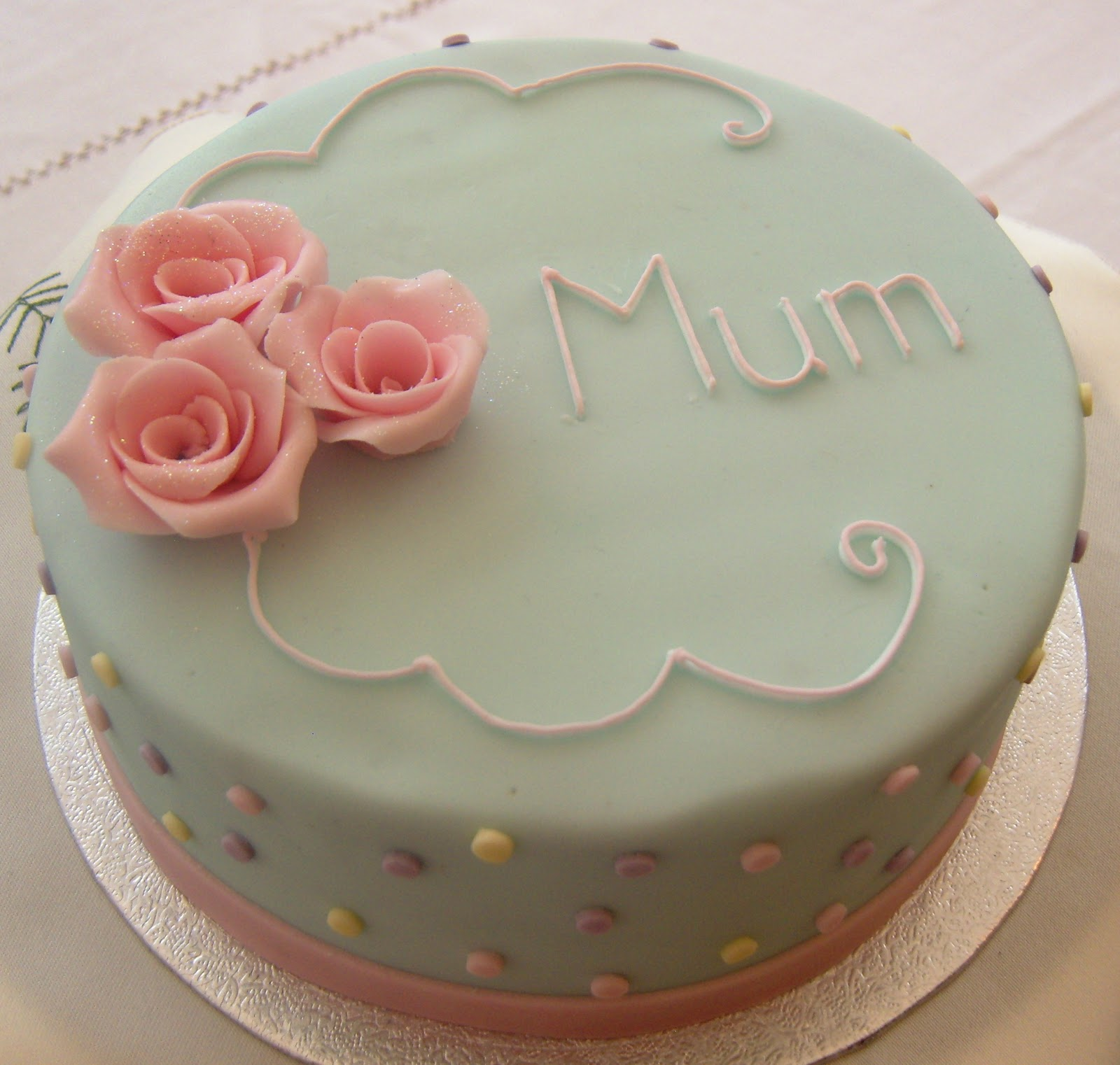Simple Birthday Cake Design For Mother