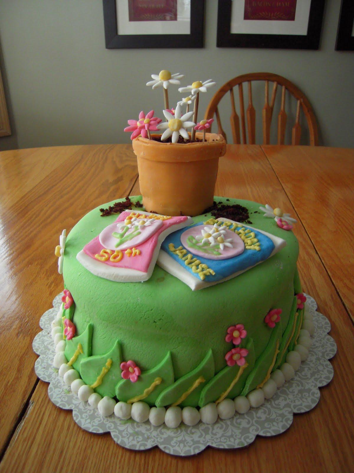 Gardening Birthday Cakes