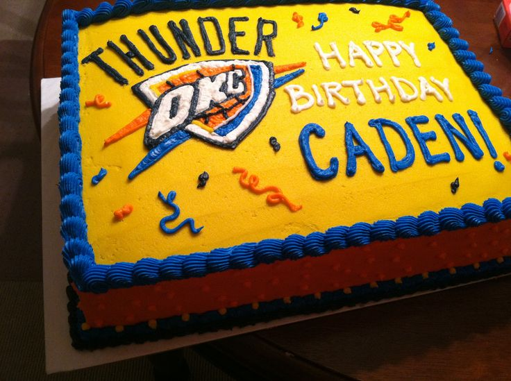 Thunder Birthday Cakes