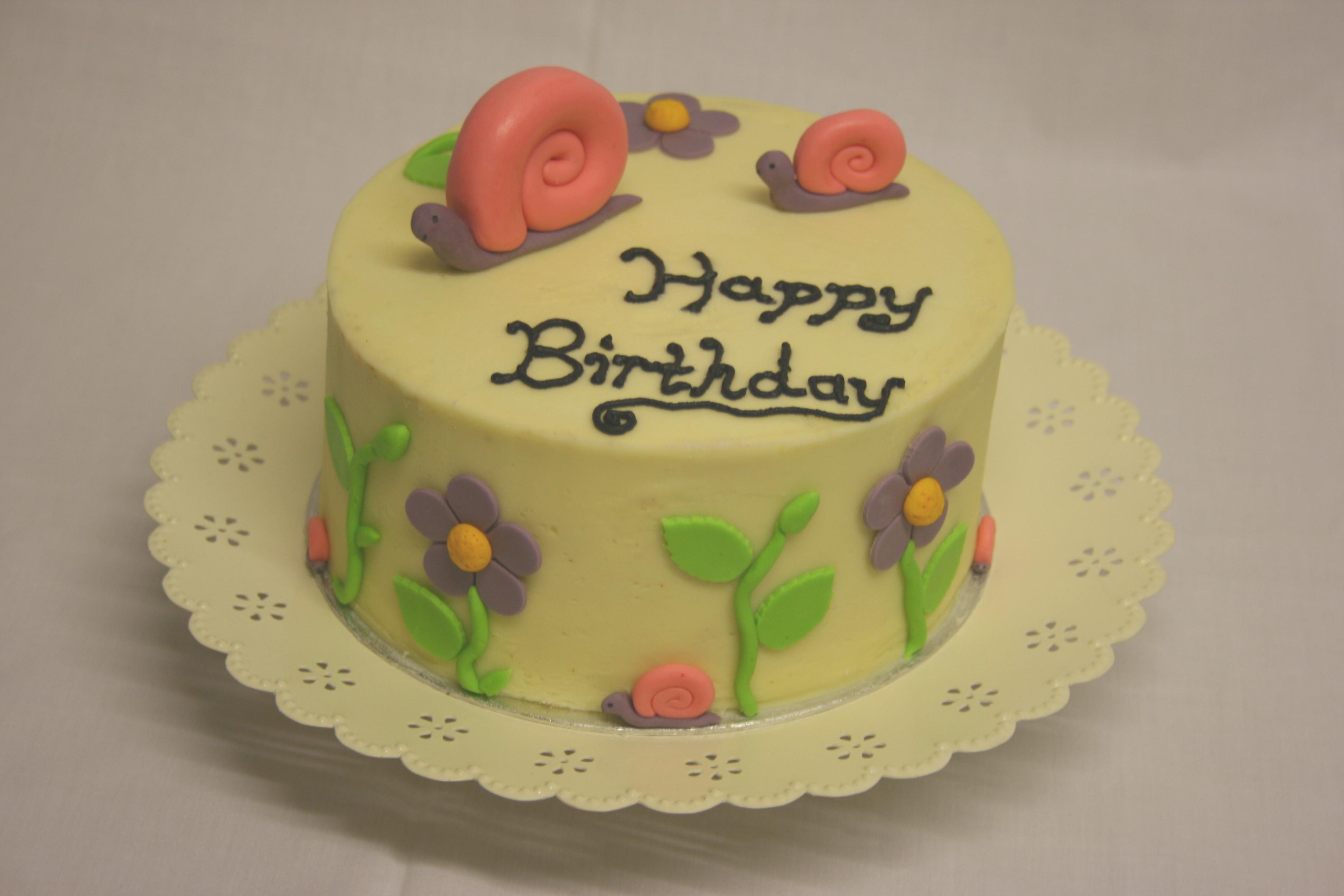 Snail Birthday Cakes