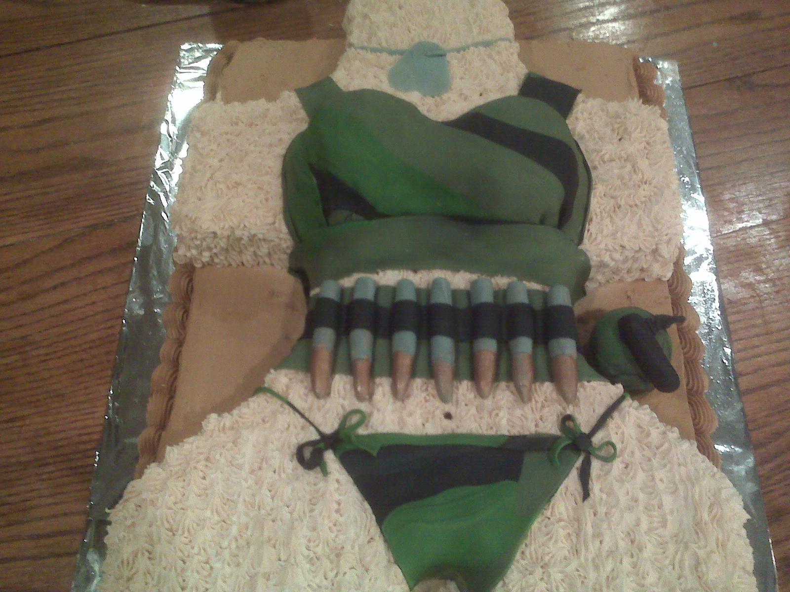 Camoflage Birthday Cakes