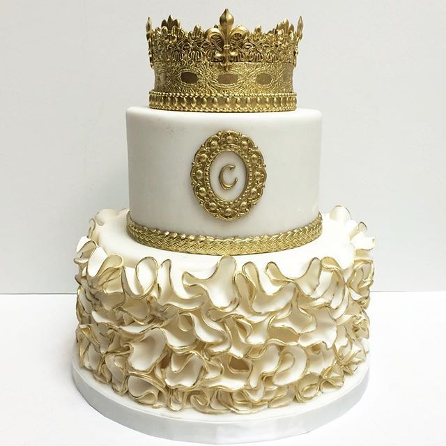 Gold Birthday Cakes