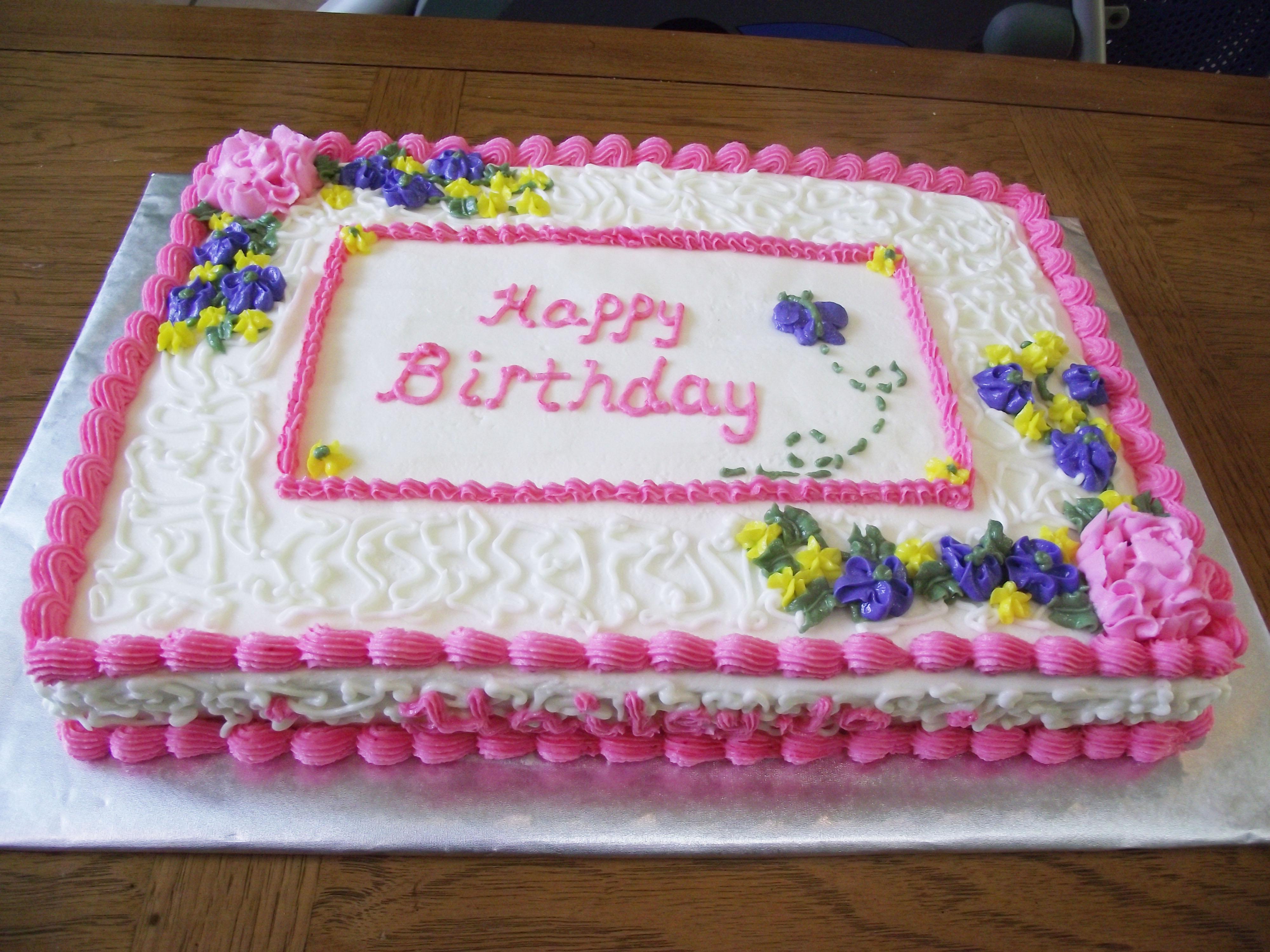 For Birthday Cakes