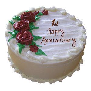 Send 1st Anniversary Vanilla Cake 1kg Cakes