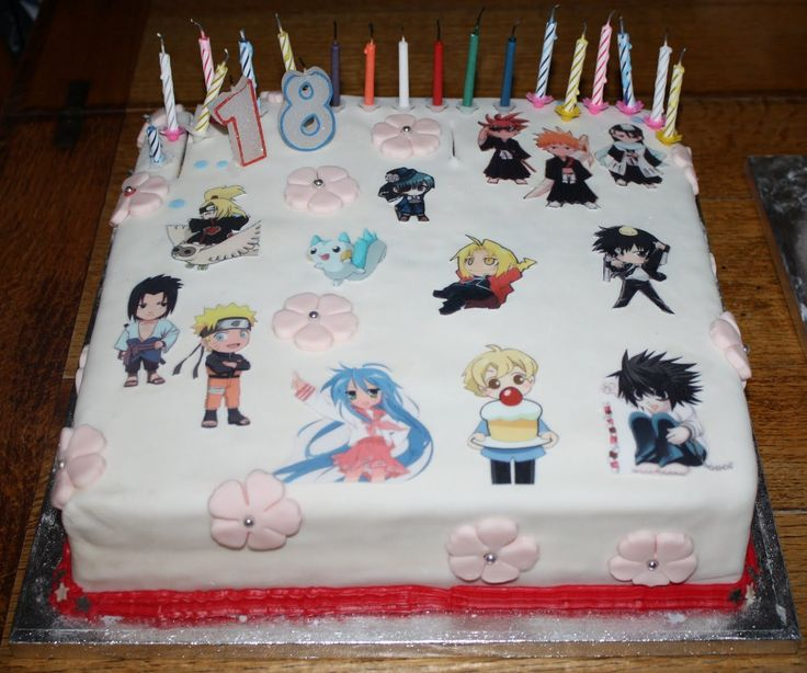 Anime Birthday Cakes