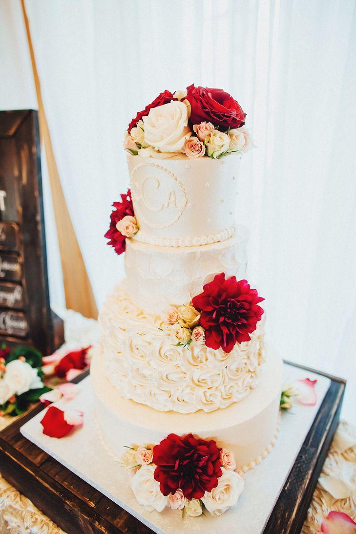 Maroon Wedding Cakes