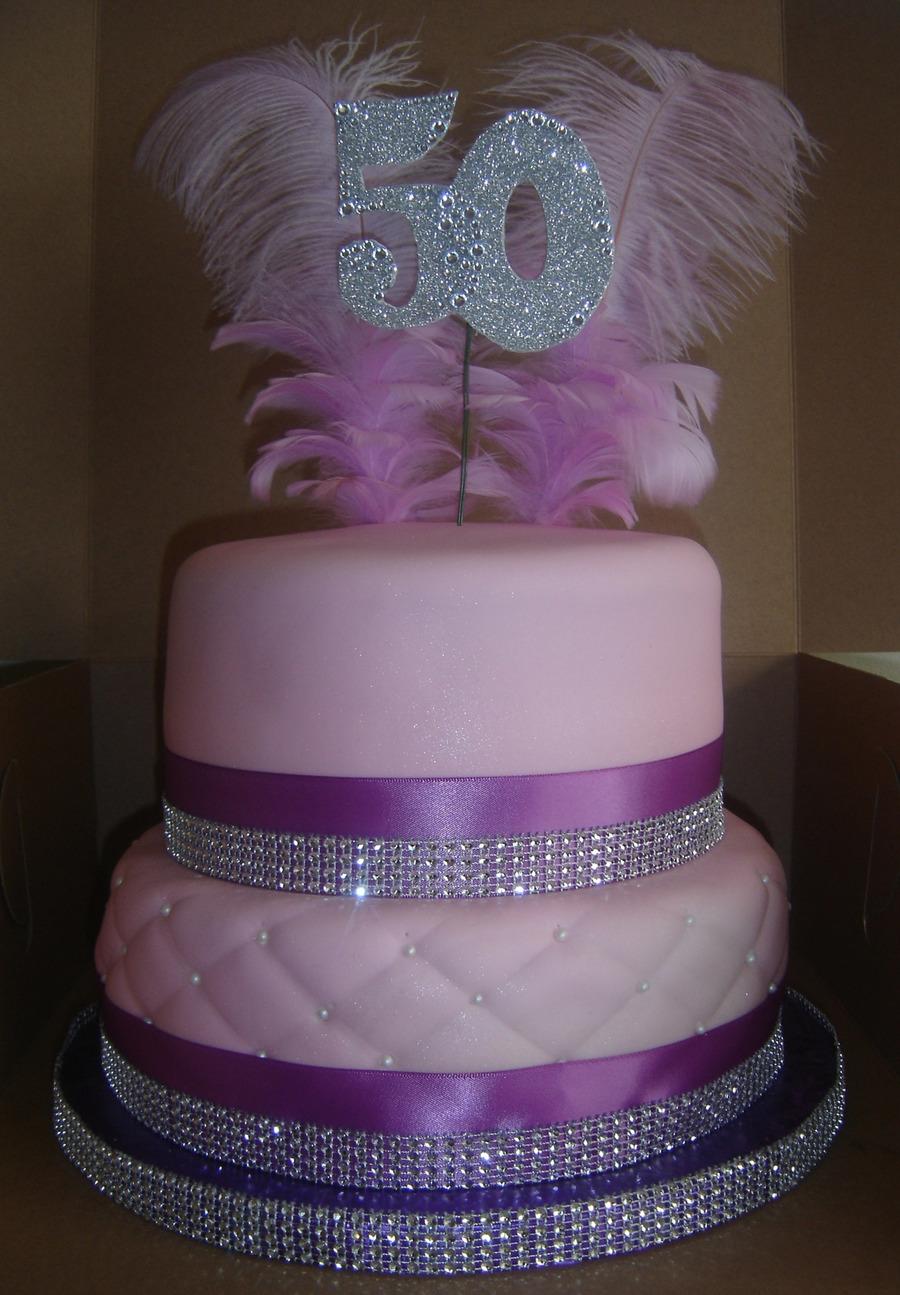 352c51690638 2 Tier 50Th Bling Cake
