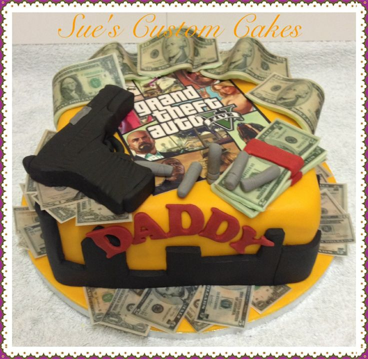 GTA V Cake Grand Theft Auto 5 Ideas Pinterest