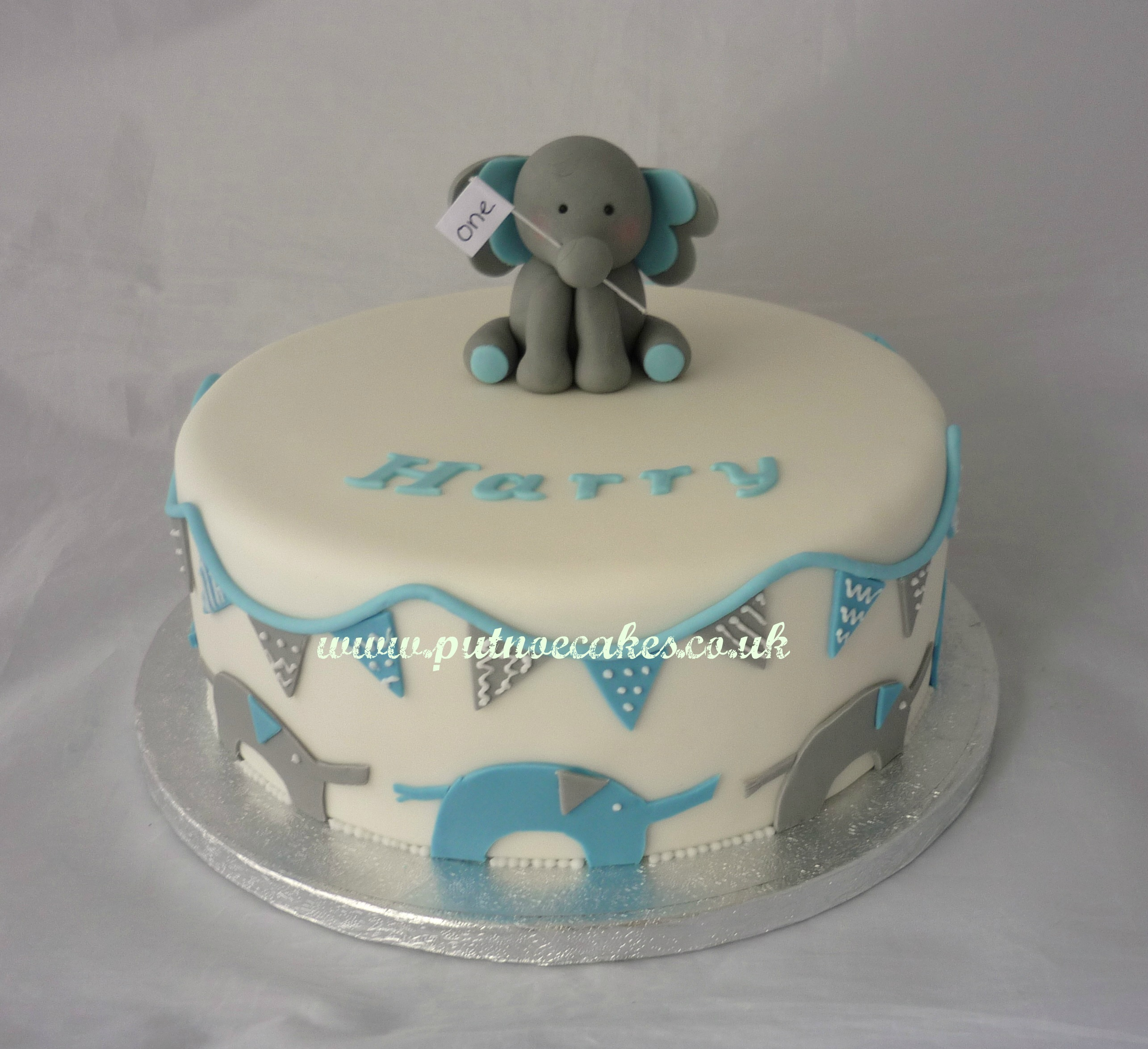 Elephant Birthday Cakes