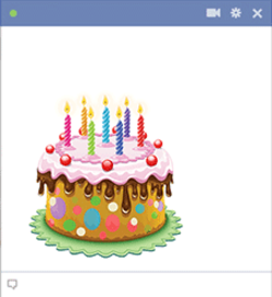Birthday Cake On Facebook Emoticon